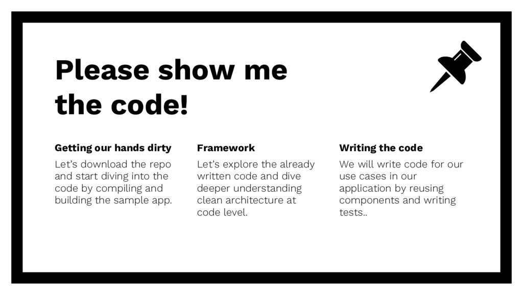 Please show me the code! Getting our hands dirt...