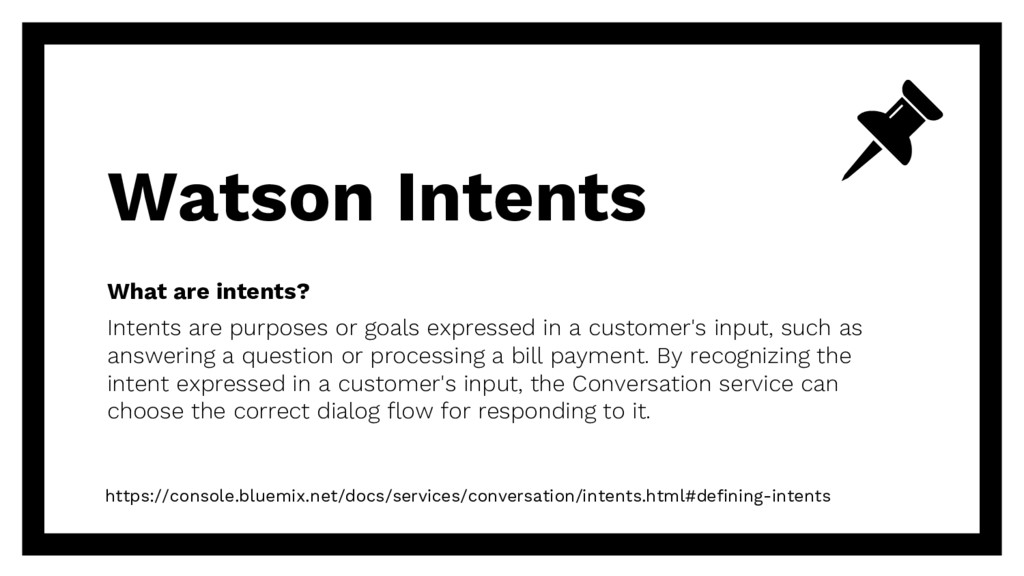 What are intents? Intents are purposes or goals...