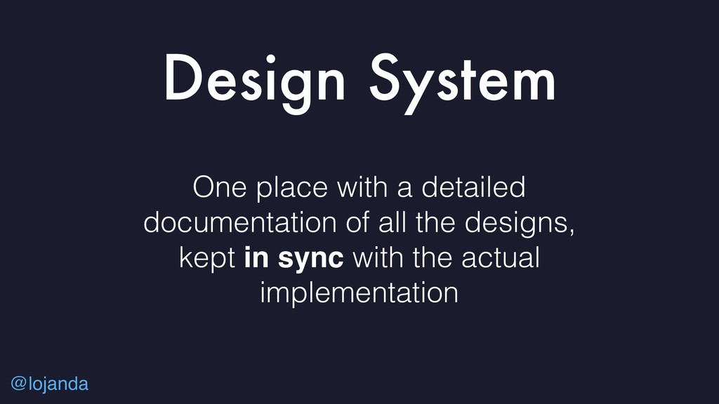 @lojanda Design System One place with a detaile...