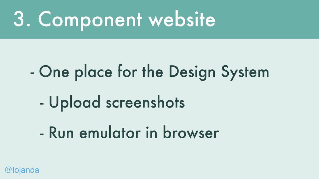 @lojanda 3. Component website - One place for t...
