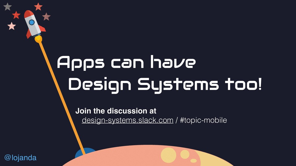 @lojanda Apps can have Design Systems too! Join...