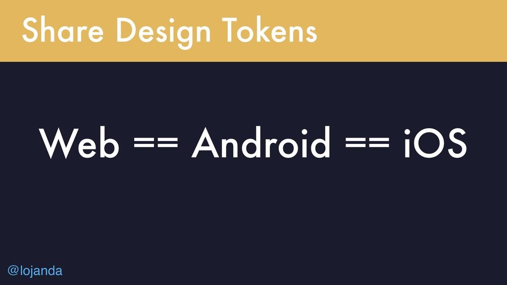 @lojanda Share Design Tokens Web == Android == ...