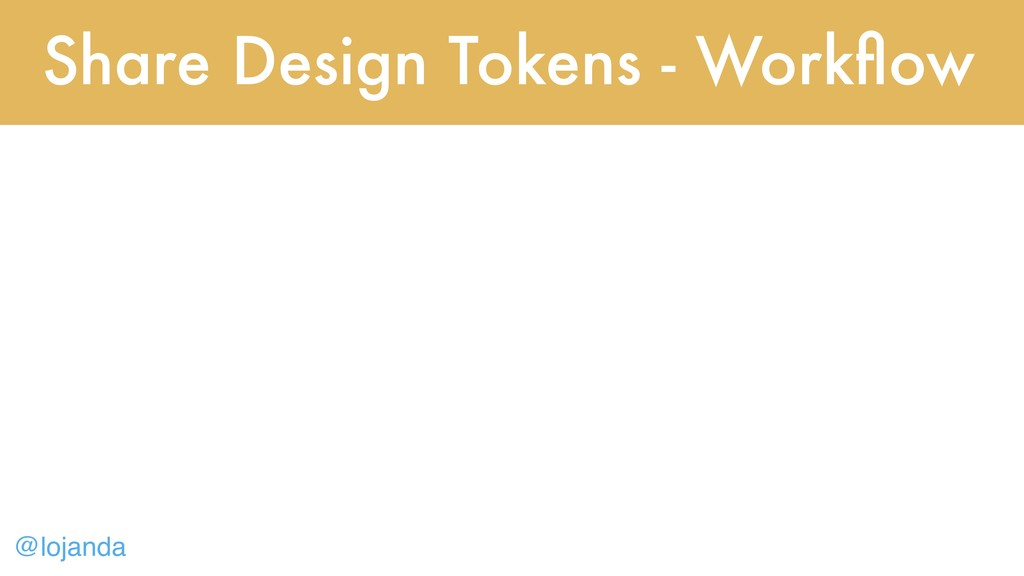 @lojanda Share Design Tokens - Workflow