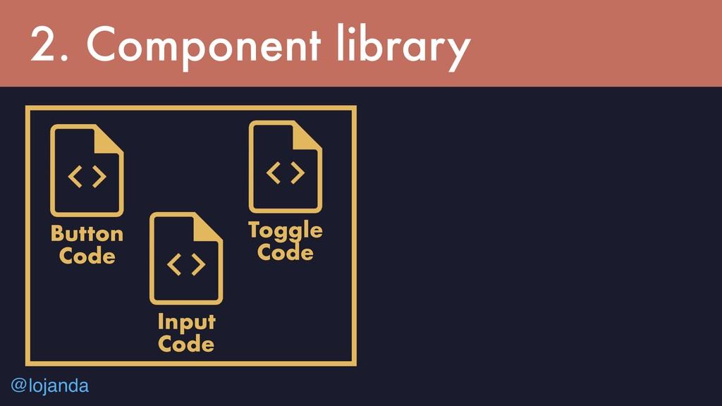 @lojanda 2. Component library Button Code Toggl...