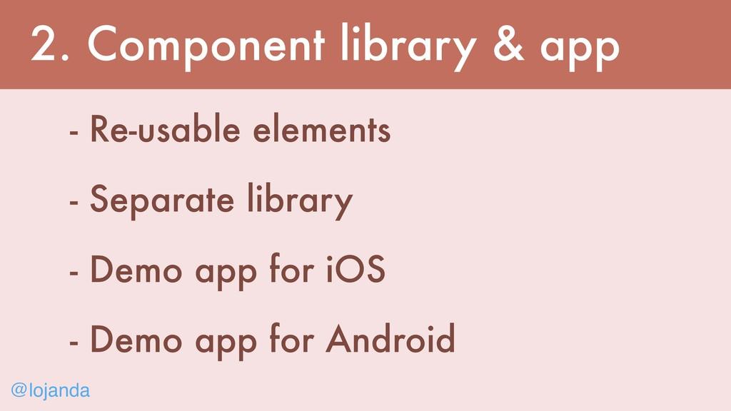 @lojanda 2. Component library & app - Re-usable...