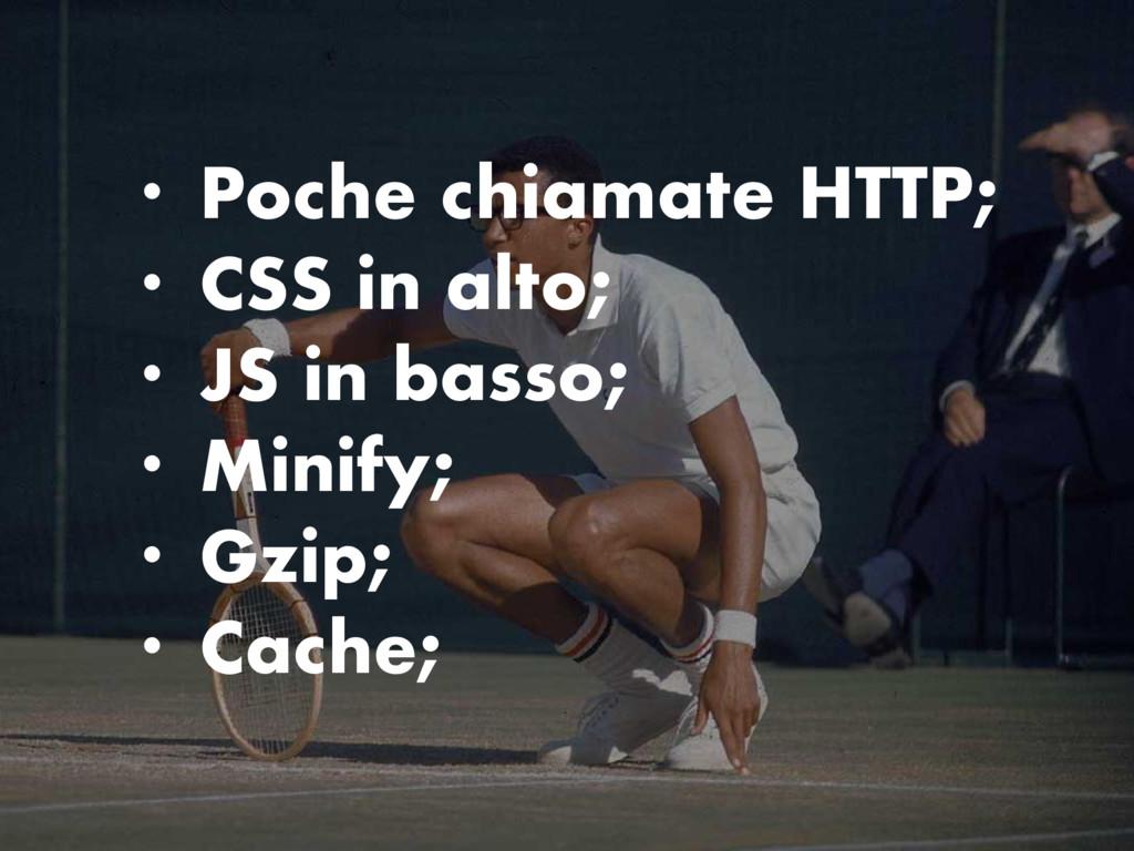 • Poche chiamate HTTP; • CSS in alto; • JS in b...