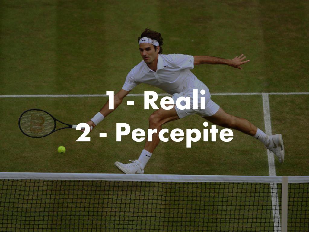 1 - Reali 2 - Percepite