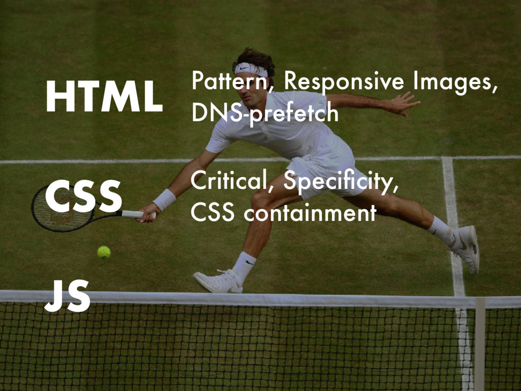 CSS HTML JS Critical, Specificity, CSS containme...