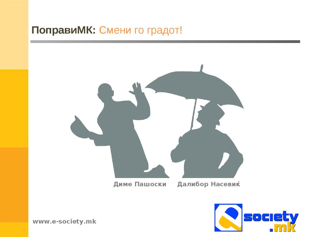 www.e-society.mk ПоправиМК: Смени го градот! Да...