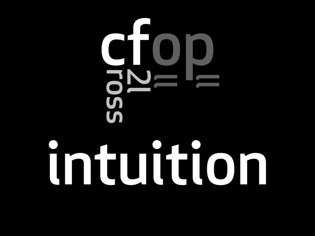 cfop ross l ll ll intuition