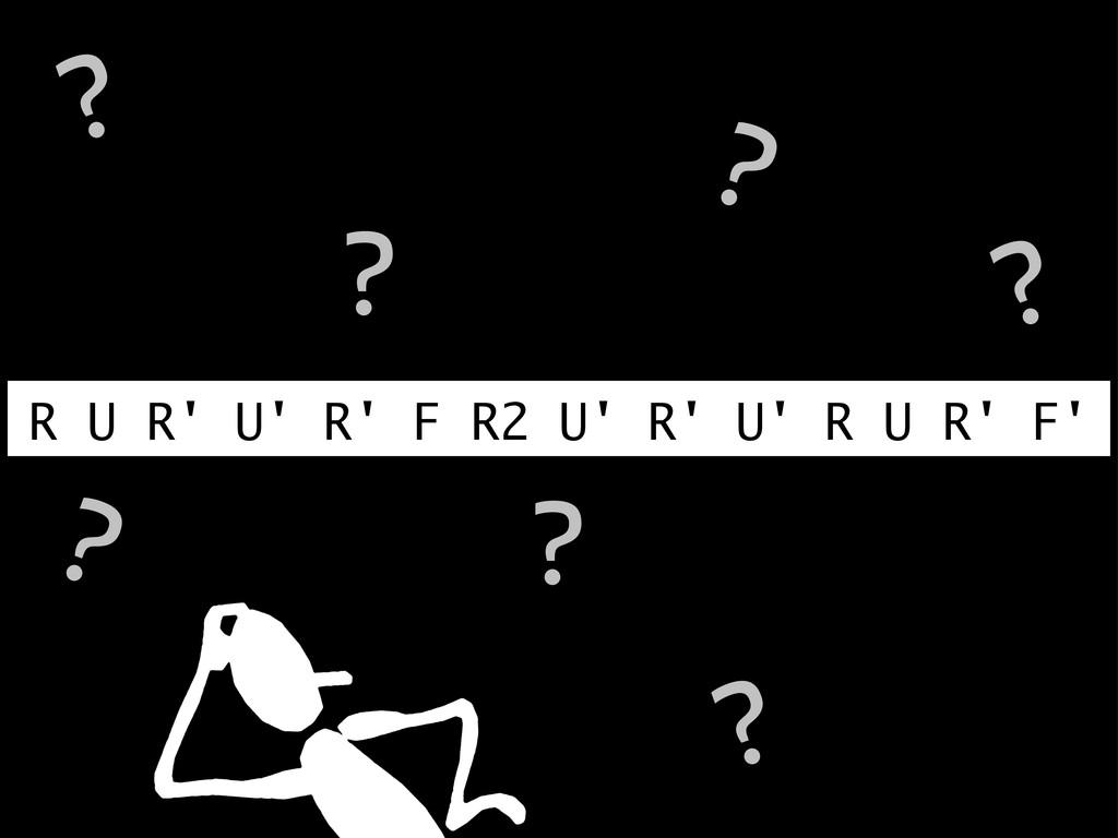R U R' U' R' F R2 U' R' U' R U R' F' ? ? ? ? ? ...