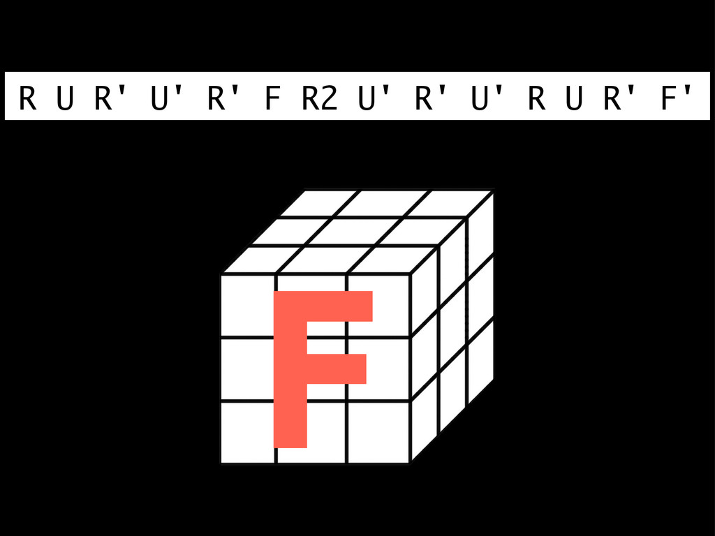 R U R' U' R' F R2 U' R' U' R U R' F' F