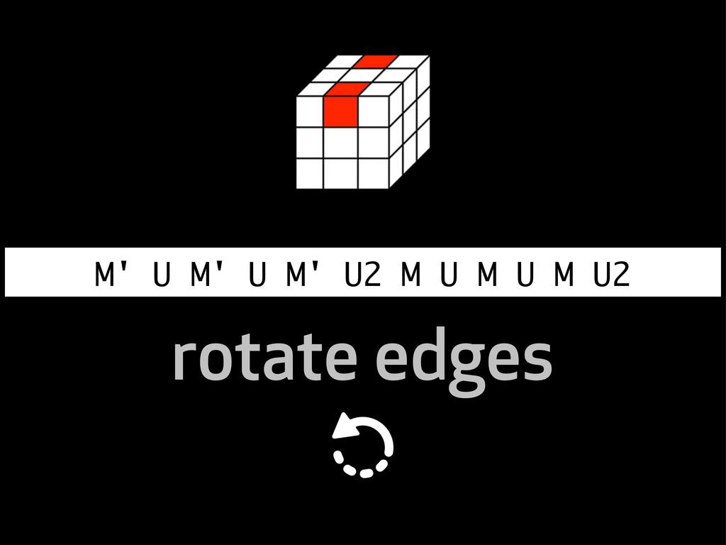 M' U M' U M' U2 M U M U M U2 rotate edges
