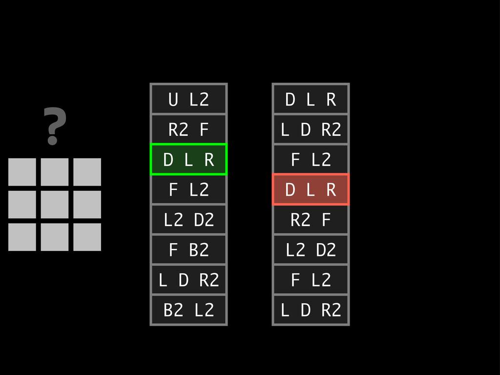 D L R L D R2 F L2 D L R R2 F L2 D2 F L2 L D R2 ...