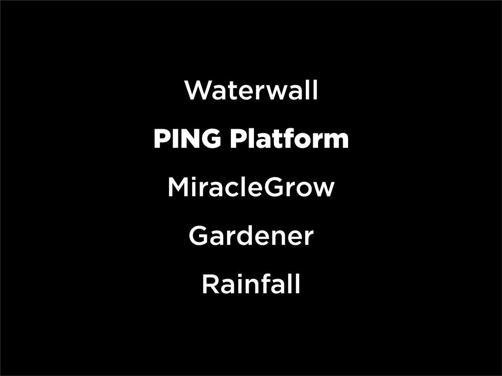 Waterwall PING Platform MiracleGrow Gardener Ra...