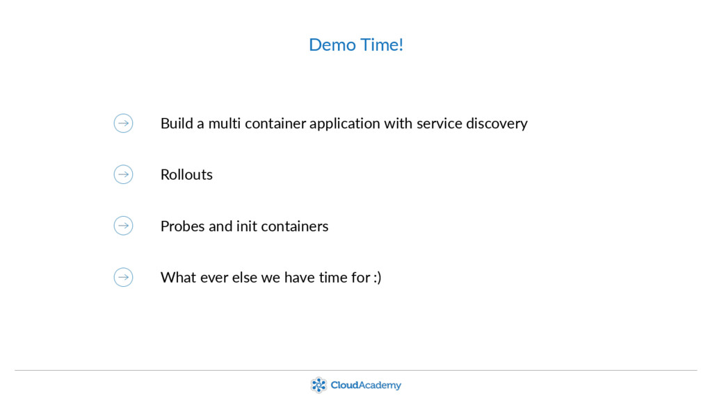 Demo Time! Build a multi container application ...