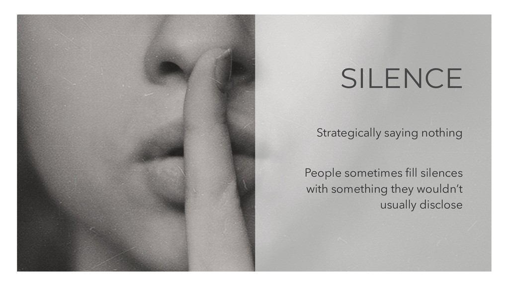 SILENCE Strategically saying nothing People som...