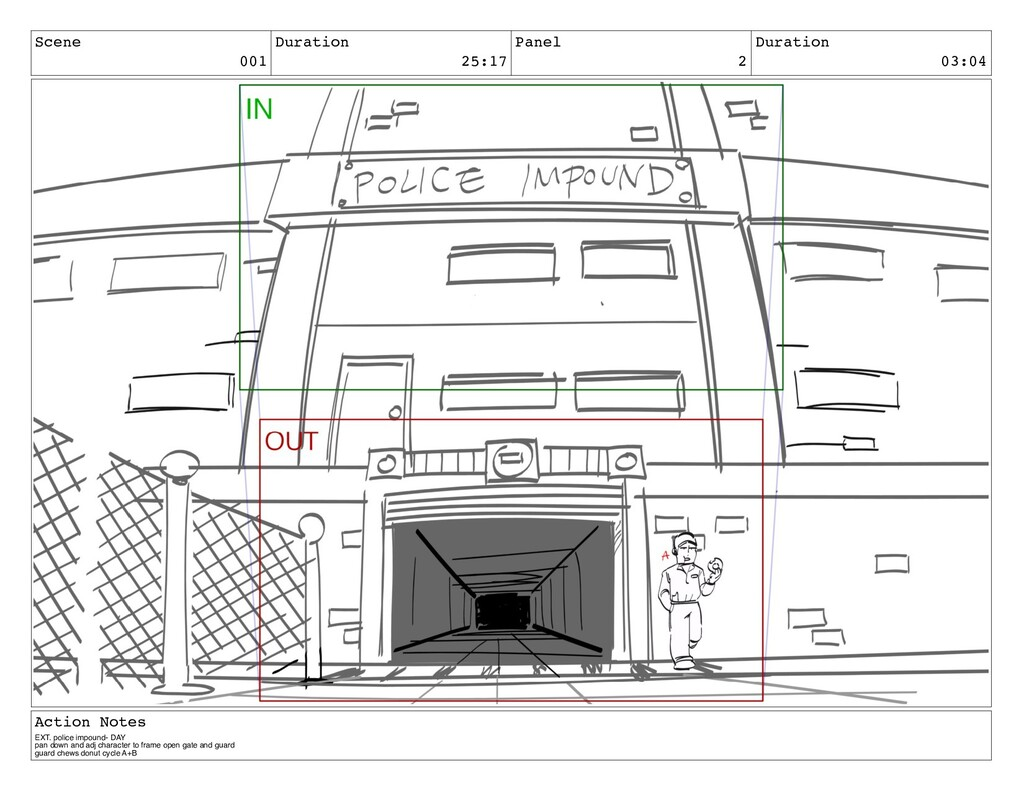 Scene 001 Duration 25:17 Panel 2 Duration 03:04...