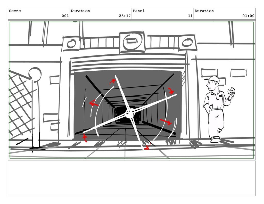 Scene 001 Duration 25:17 Panel 11 Duration 01:00