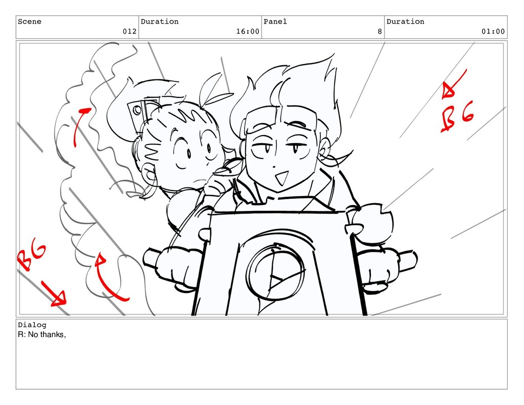 Scene 012 Duration 16:00 Panel 8 Duration 01:00...
