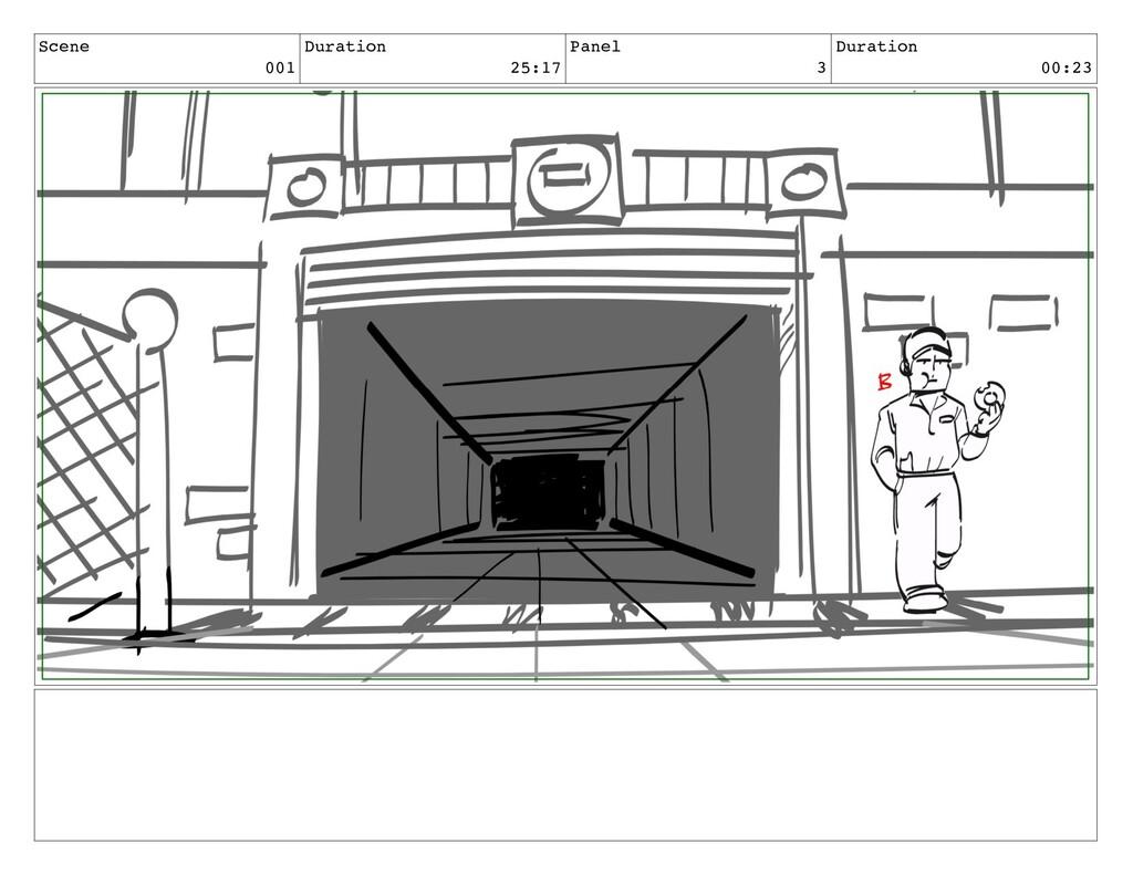 Scene 001 Duration 25:17 Panel 3 Duration 00:23