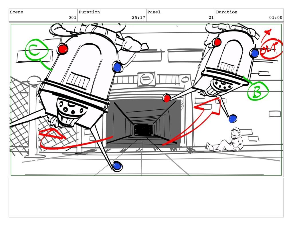 Scene 001 Duration 25:17 Panel 21 Duration 01:00