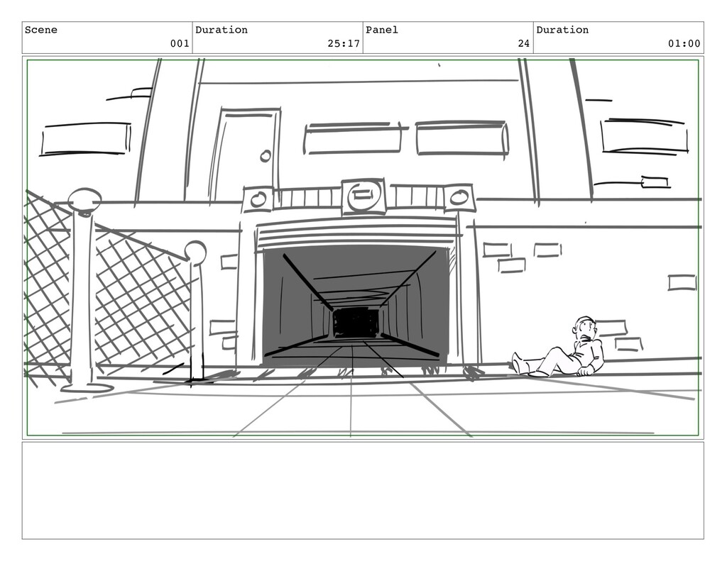 Scene 001 Duration 25:17 Panel 24 Duration 01:00