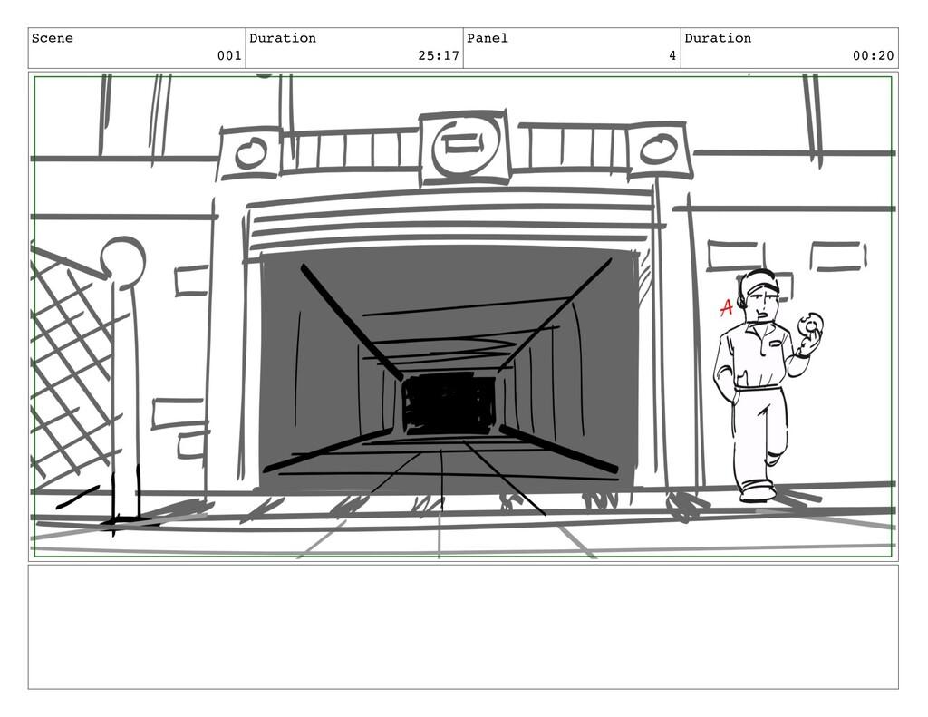 Scene 001 Duration 25:17 Panel 4 Duration 00:20