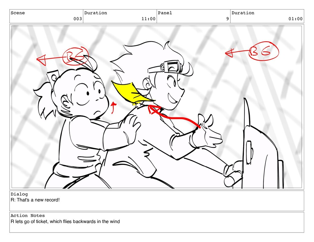 Scene 003 Duration 11:00 Panel 9 Duration 01:00...