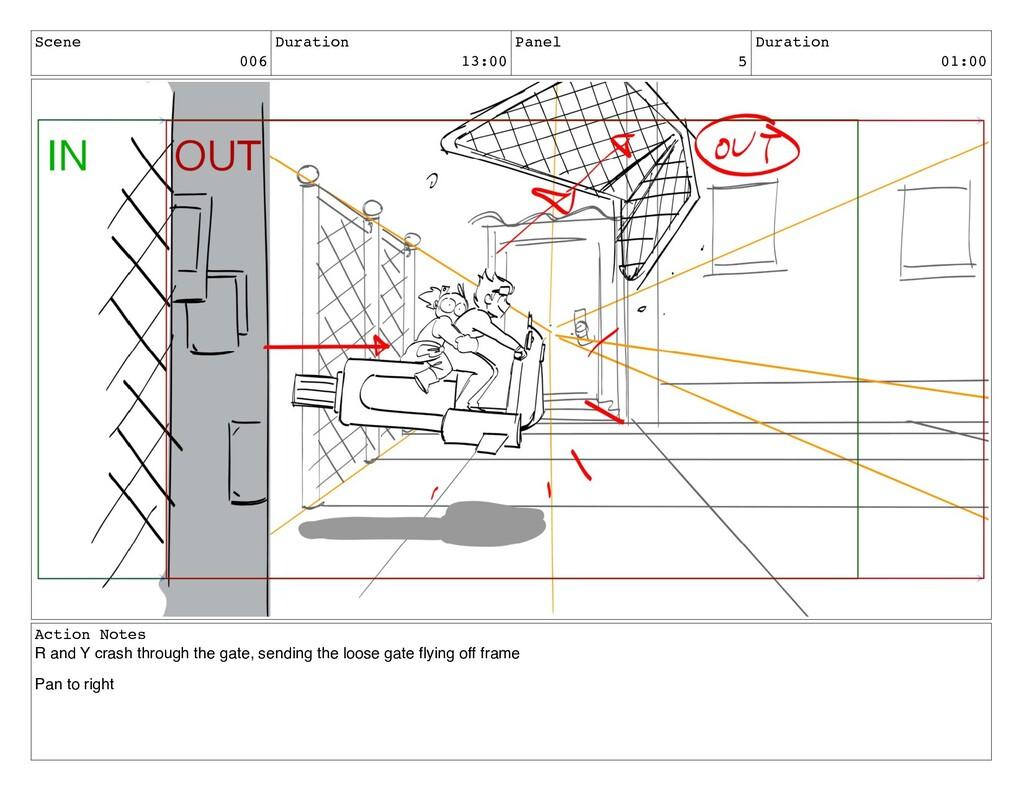 Scene 006 Duration 13:00 Panel 5 Duration 01:00...