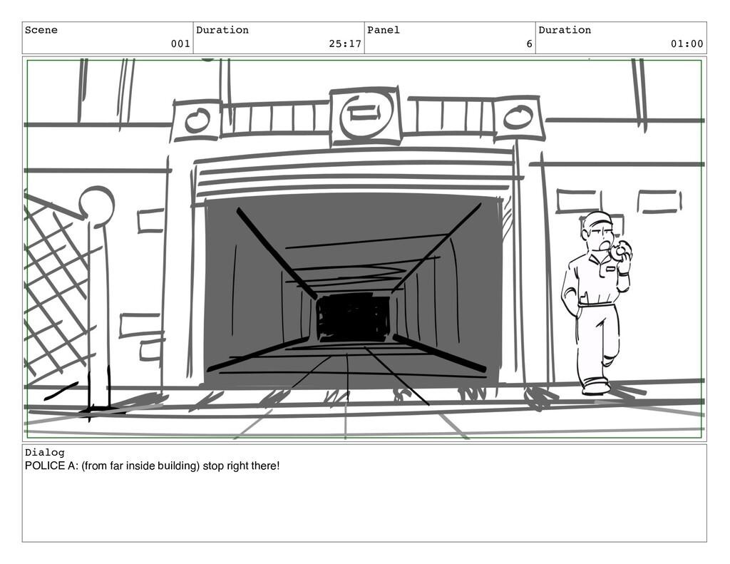 Scene 001 Duration 25:17 Panel 6 Duration 01:00...