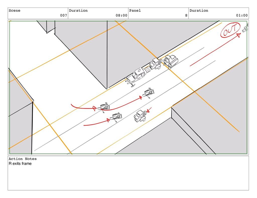 Scene 007 Duration 08:00 Panel 8 Duration 01:00...