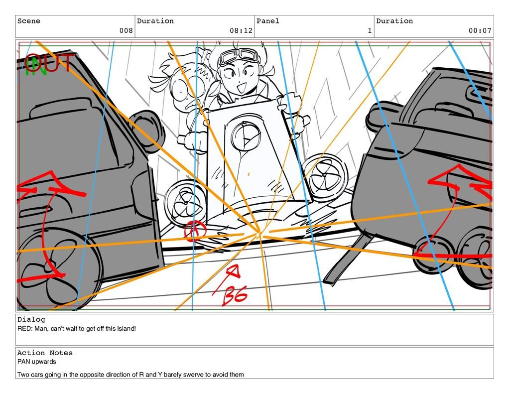 Scene 008 Duration 08:12 Panel 1 Duration 00:07...