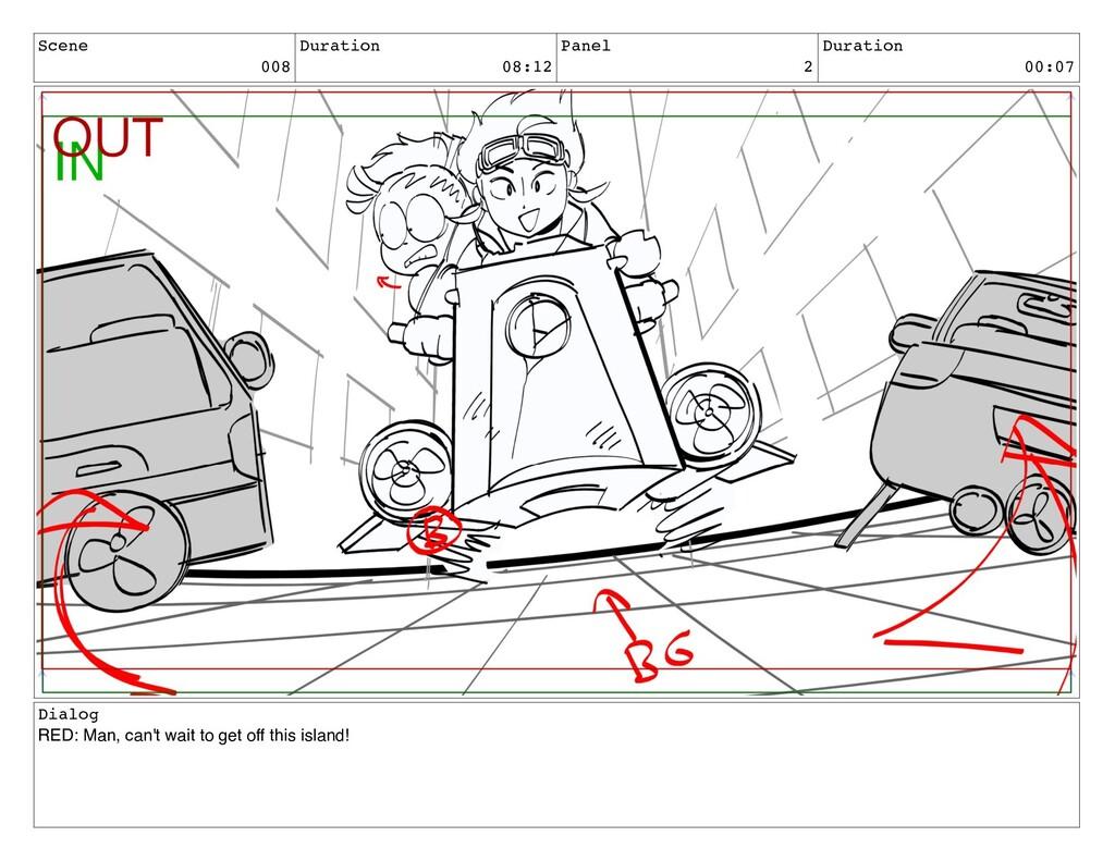 Scene 008 Duration 08:12 Panel 2 Duration 00:07...