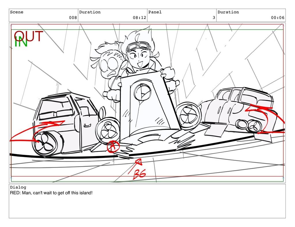 Scene 008 Duration 08:12 Panel 3 Duration 00:06...