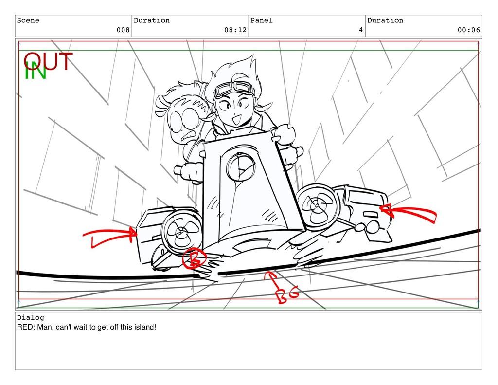 Scene 008 Duration 08:12 Panel 4 Duration 00:06...