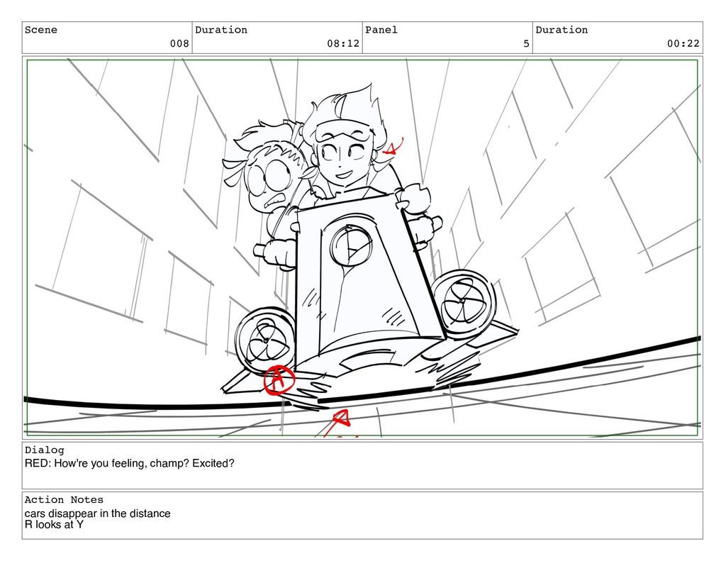 Scene 008 Duration 08:12 Panel 5 Duration 00:22...