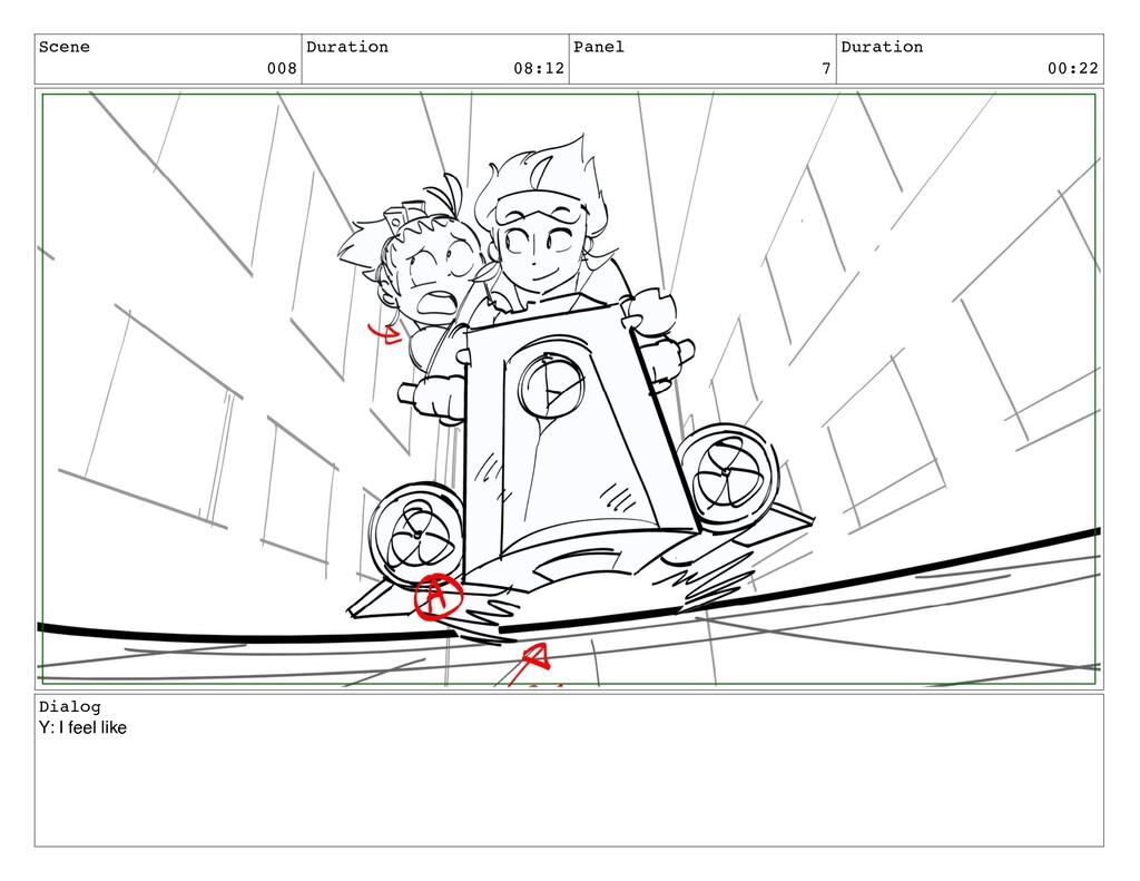 Scene 008 Duration 08:12 Panel 7 Duration 00:22...