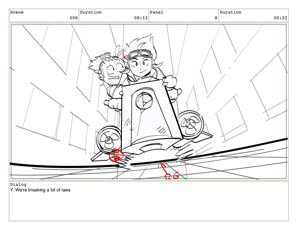 Scene 008 Duration 08:12 Panel 8 Duration 00:22...