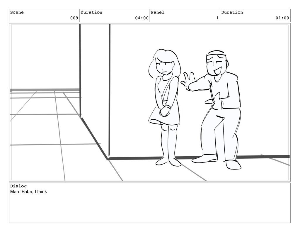Scene 009 Duration 04:00 Panel 1 Duration 01:00...