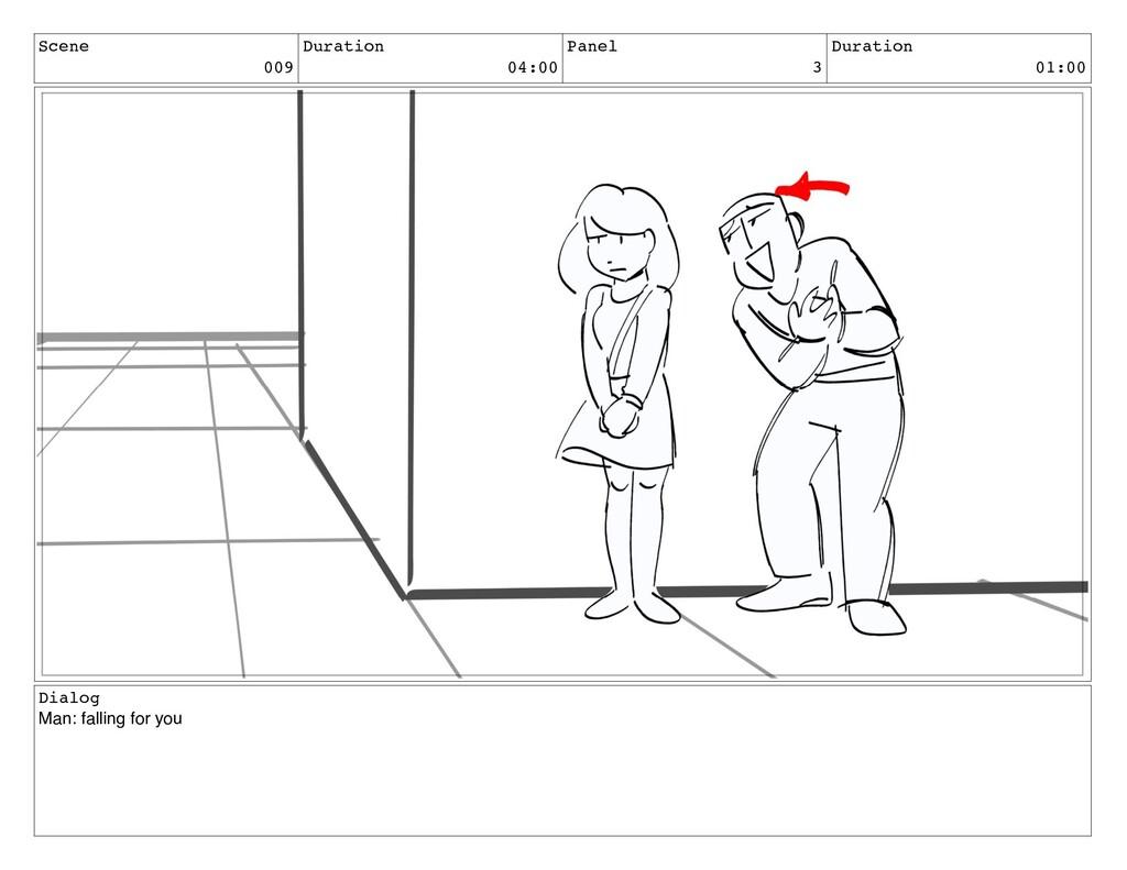 Scene 009 Duration 04:00 Panel 3 Duration 01:00...