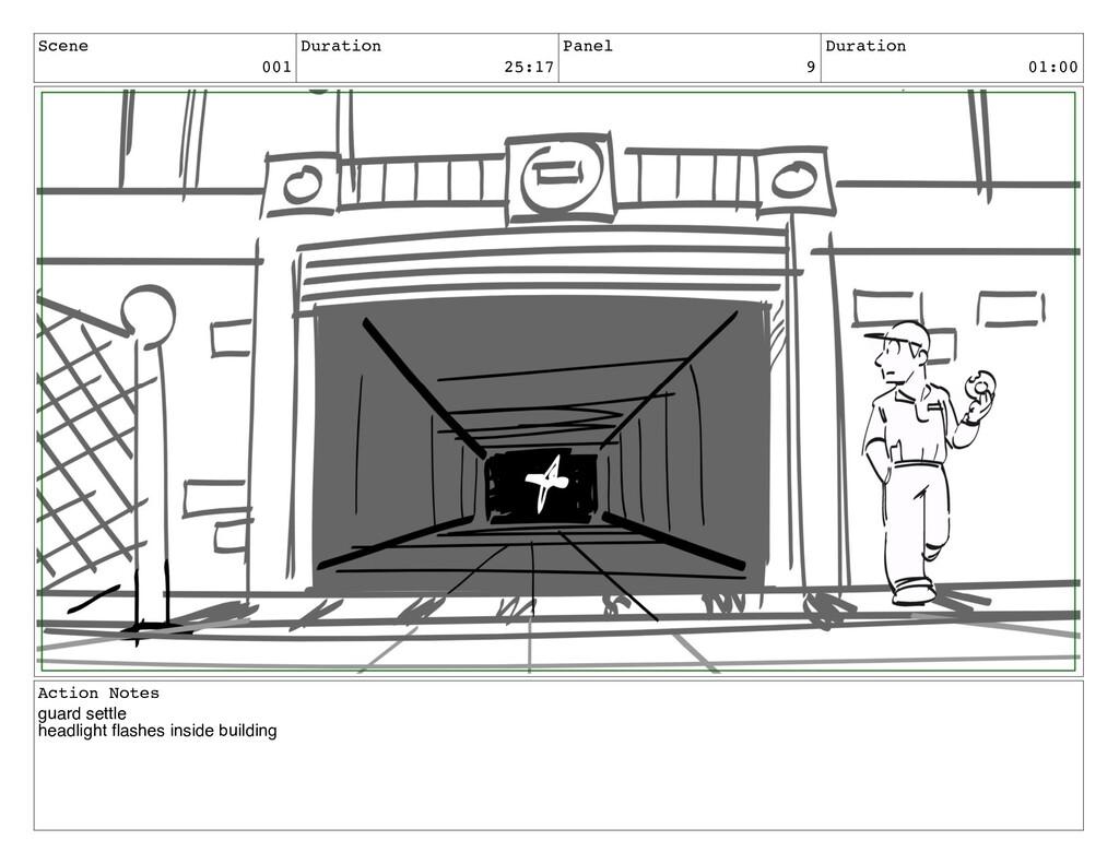 Scene 001 Duration 25:17 Panel 9 Duration 01:00...