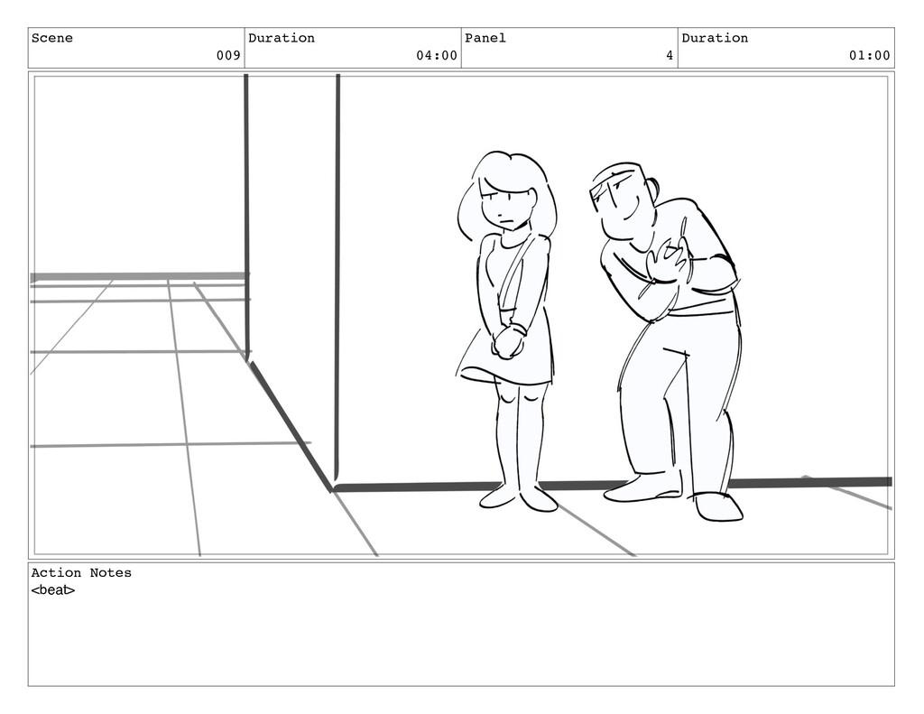 Scene 009 Duration 04:00 Panel 4 Duration 01:00...