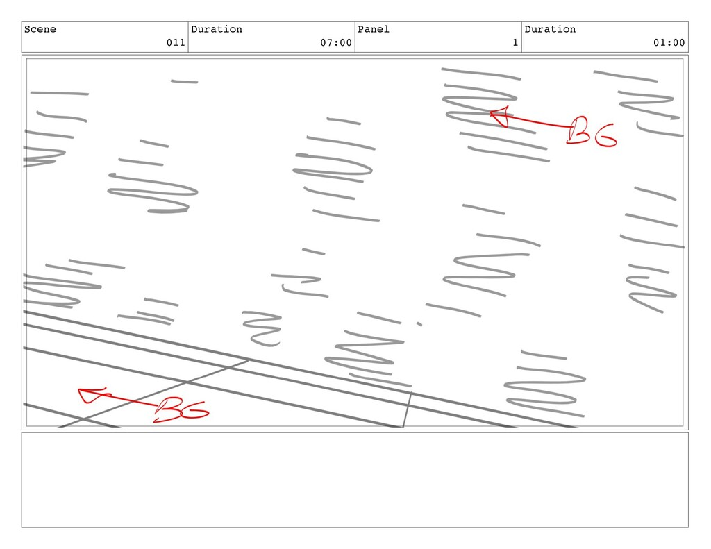 Scene 011 Duration 07:00 Panel 1 Duration 01:00