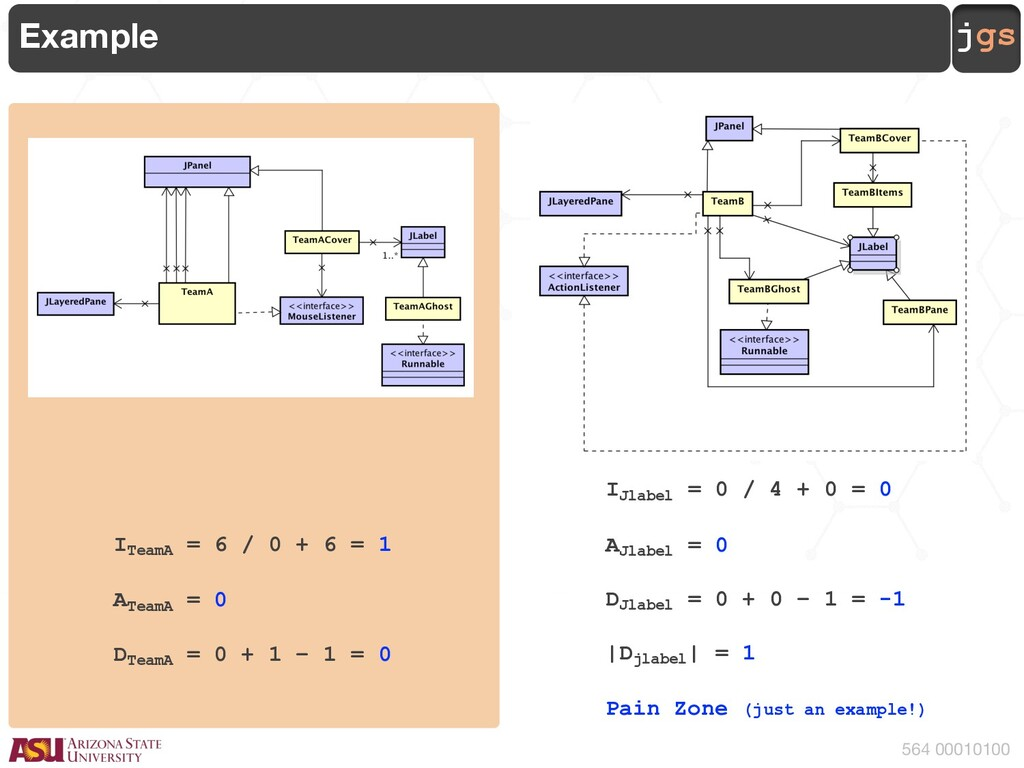 jgs 564 00010100 Example ITeamA = 6 / 0 + 6 = 1...