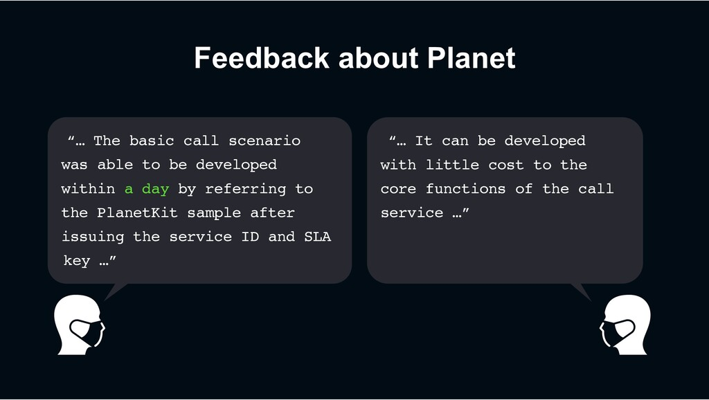 "Feedback about Planet ""… The basic call scenari..."