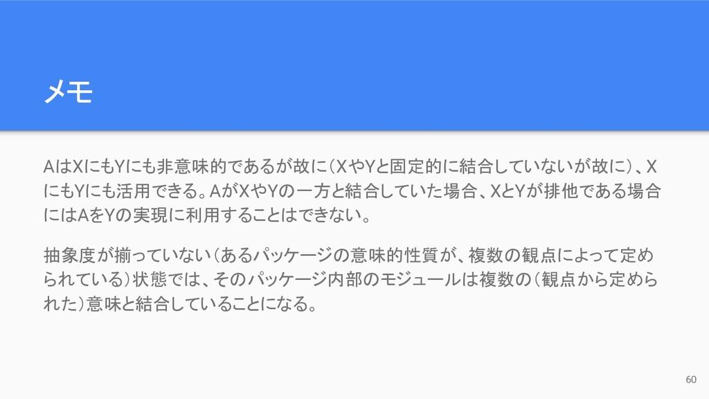 メモ AはXにもYにも非意味的であるが故に(XやYと固定的に結合していないが故に)、X にもY...