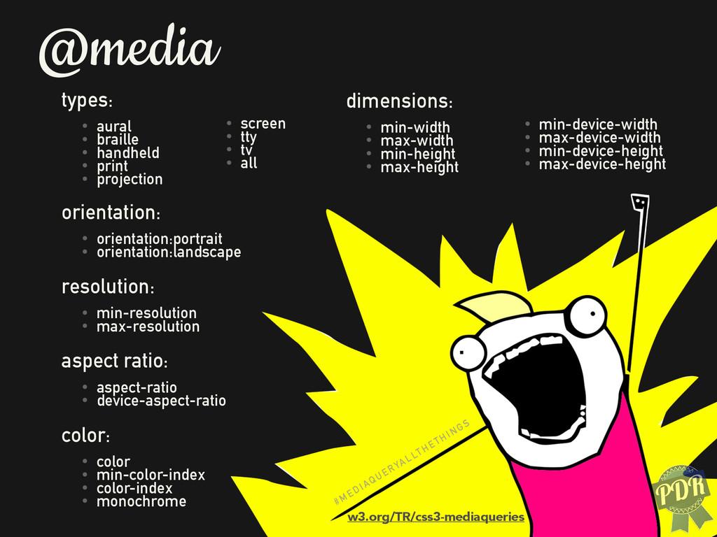 @media types: • aural • braille • handheld • pr...