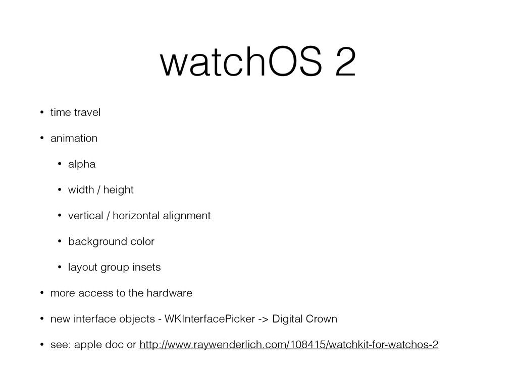 watchOS 2 • time travel • animation • alpha • w...