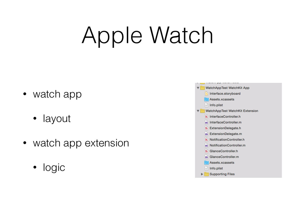 Apple Watch • watch app • layout • watch app ex...